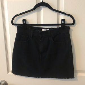 Frame Denim Black Mini Skirt